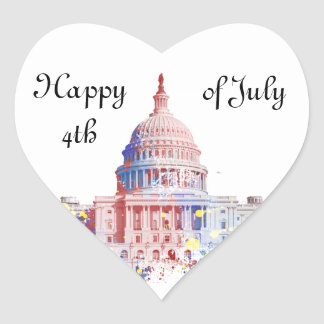 United States Capitol Heart Sticker
