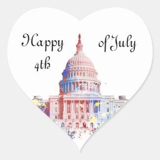 United States Capitol Heart Sticker