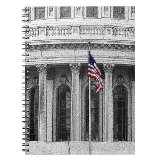 United States Capitol Spiral Note Book