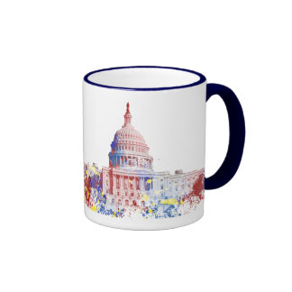 United States Capitol Ringer Mug