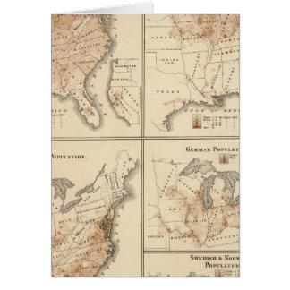United States Census maps, 1870 Card