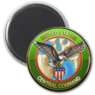 United States Central Command 6 Cm Round Magnet