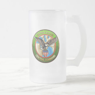 United States Central Command Frosted Glass Mug