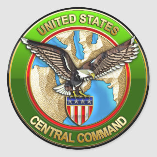 United States Central Command Round Sticker