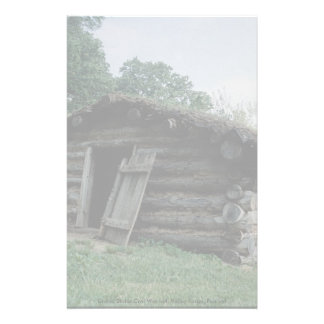 United States Civil War hut, Valley Forge, Pennsyl Stationery Paper