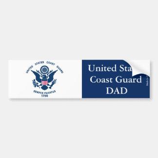 United States Coast Guard Dad Bumper Sticker