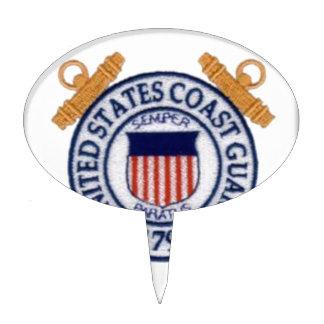 United States Coast Guard Emblem Cake Picks