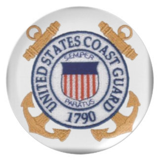 United States Coast Guard Emblem Dinner Plates