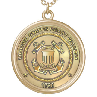 United States Coast Guard Gold Plated Necklace