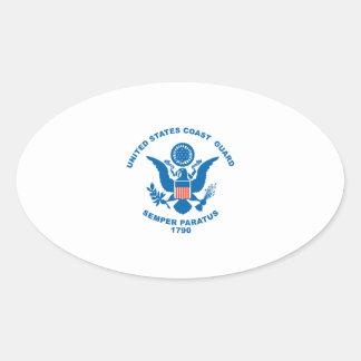 United States Coast Guard Oval Sticker