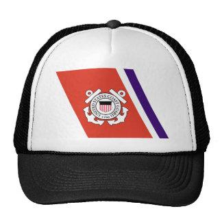 United States Coast Guard Racing Stripe - Left Trucker Hat