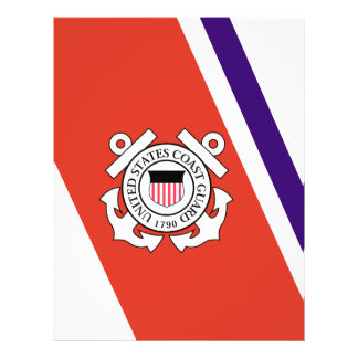 United States Coast Guard Racing Stripe - Left 21.5 Cm X 28 Cm Flyer