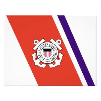 United States Coast Guard Racing Stripe - Left Personalized Invite