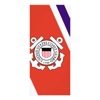 United States Coast Guard Racing Stripe - Left Rack Card Template
