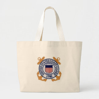 United States Coast Guard Seal Large Tote Bag