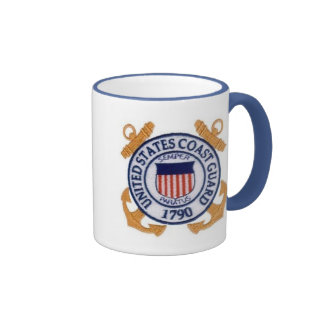 United States Coast Guard Seal Ringer Coffee Mug