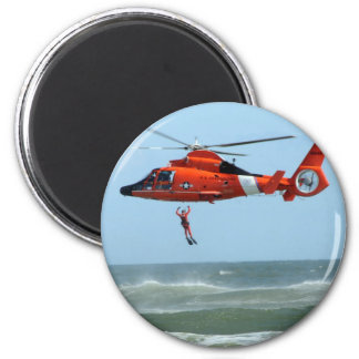 United States Coast Guard Search and Rescue 6 Cm Round Magnet