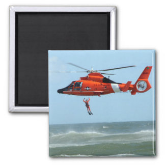 United States Coast Guard Search and Rescue Square Magnet