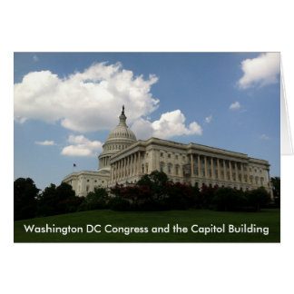 United States Congress and Capitol Greeting Card