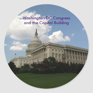 United States Congress and Capitol Round Sticker