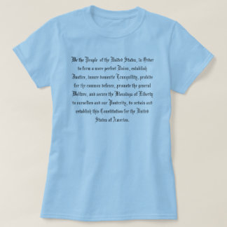 UNITED STATES CONSTITUTION T-SHIRTS
