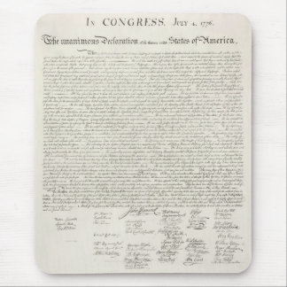 United States Declaration of Independence Mouse Mat