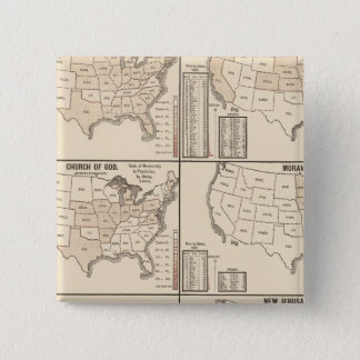 United States denominational statistics 15 Cm Square Badge