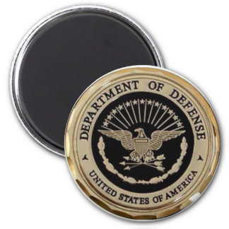 UNITED STATES DEPARTMENT OF DEFENSE 6 CM ROUND MAGNET