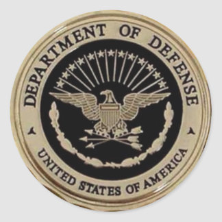 UNITED STATES DEPARTMENT OF DEFENSE ROUND STICKER
