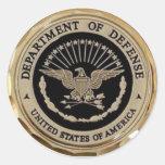 UNITED STATES DEPARTMENT OF DEFENSE ROUND STICKER