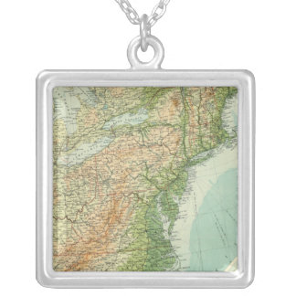 United States eastern section Silver Plated Necklace
