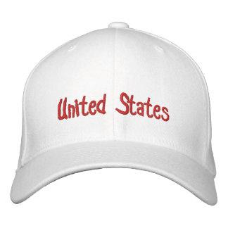 United States Embroidered Baseball Caps