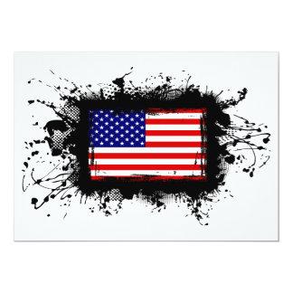 United States Flag 13 Cm X 18 Cm Invitation Card
