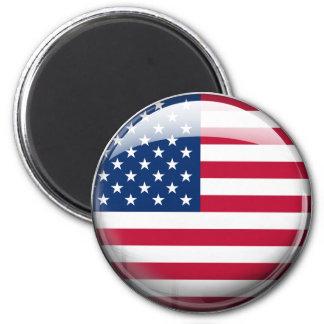 United States Flag 6 Cm Round Magnet