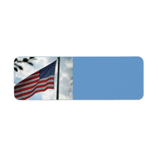 United States Flag Avery Label Return Address Label