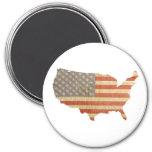 United States Flag & Country Fridge Magnet Fridge Magnet