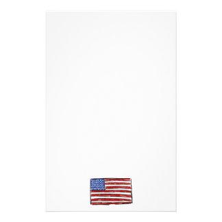 United States Flag Customized Stationery