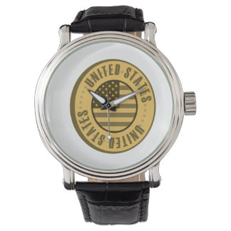 United States Flag Gold Coin Watch
