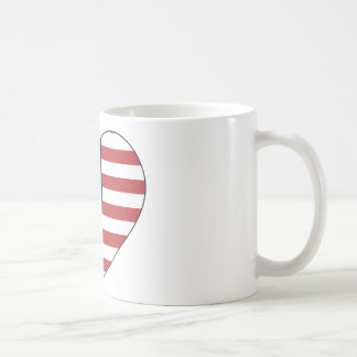 United States Flag Heart Coffee Mug