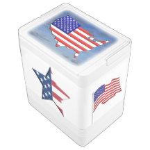 UNITED STATES FLAG IGLOO COOLER