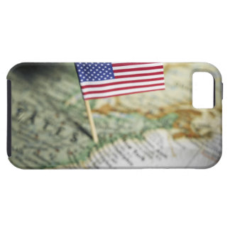 United States flag in map Tough iPhone 5 Case