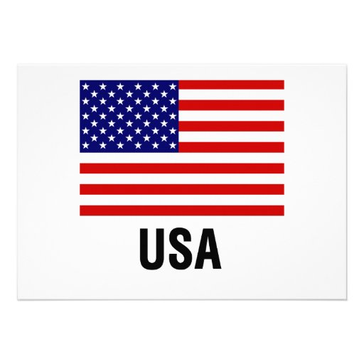 United States Flag Invitations