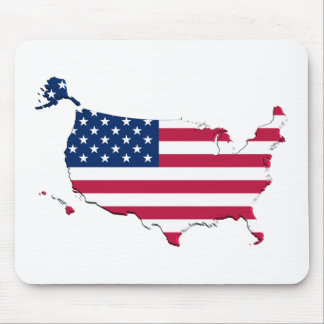 United States Flag-Map Mouse Mat