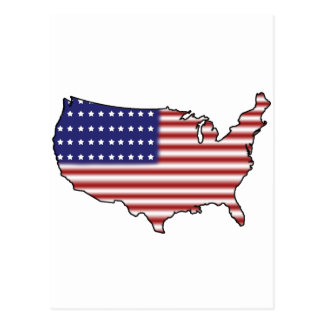 United States Flag Postcard