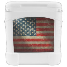 UNITED STATES FLAG ROLLING COOLER