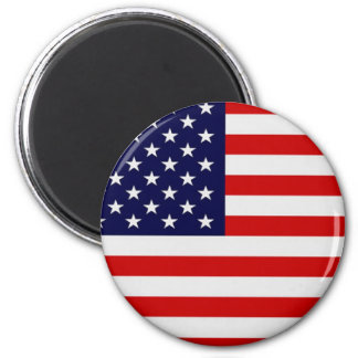 United States Flag Round Fridge Magnet