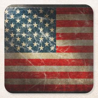 UNITED STATES FLAG SQUARE PAPER COASTER