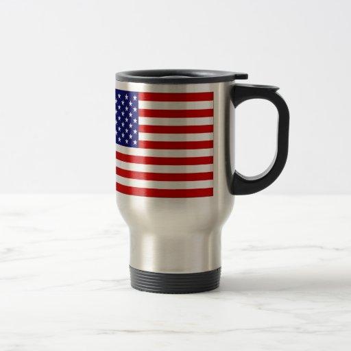 United States Flag Stainless Steel Travel Mug