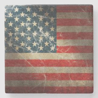 UNITED STATES FLAG STONE BEVERAGE COASTER