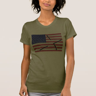 United States Flag with 3-D Star Shirt